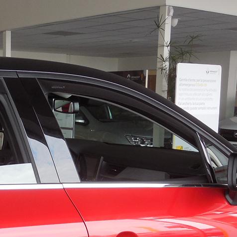 Farad Mini Deflectors 43KI00674 deflettori dAria Anteriori per Auto e furgoni